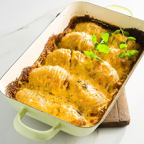 Potatonation recipe - Creamy Hassel back potato bake