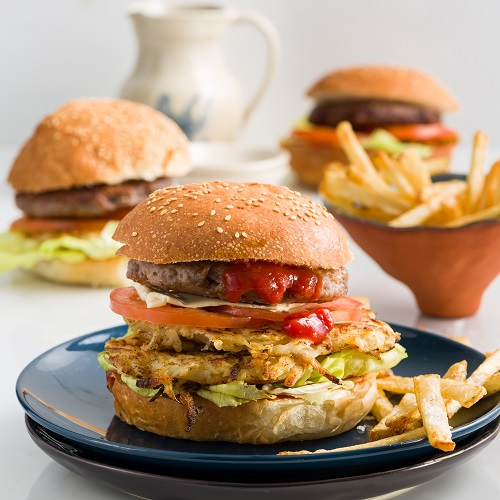 Potatonation recipe - Hash brown and cheddar burger - featured image