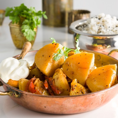 Potatonation recipe - Spicy potato vindaloo - featured image