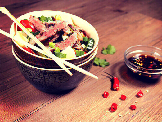 Asian Style Potato and Beef Salad