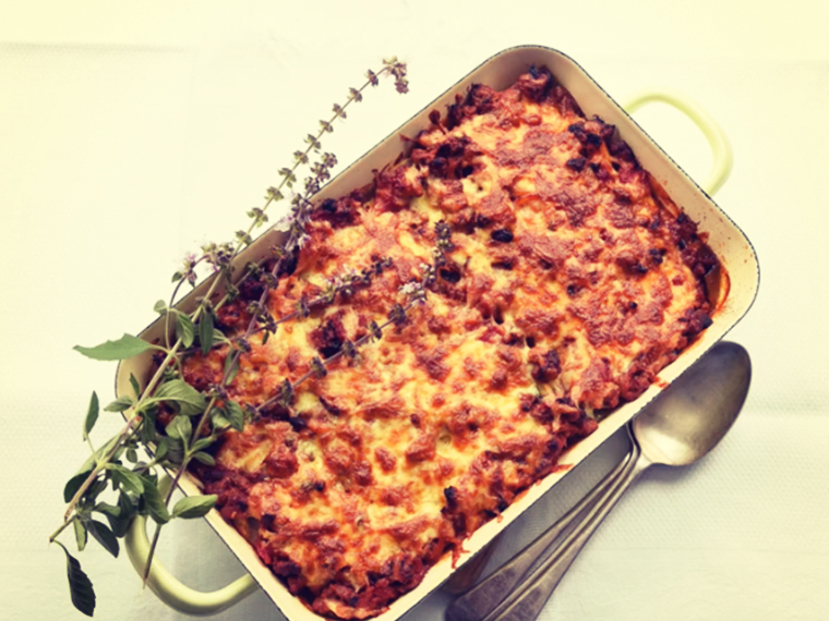 Easy Potato and Tomato Lasagne