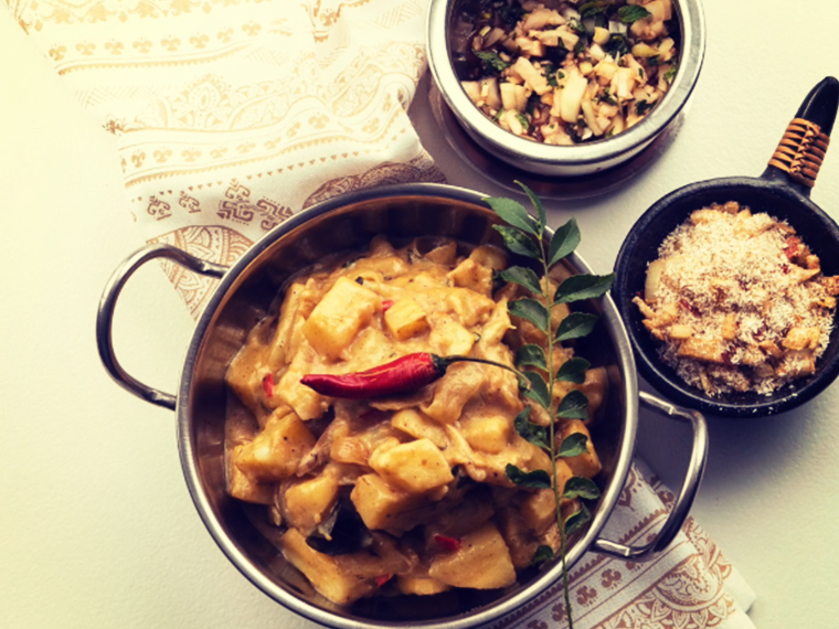 Easy, tasty potato and coconut curry