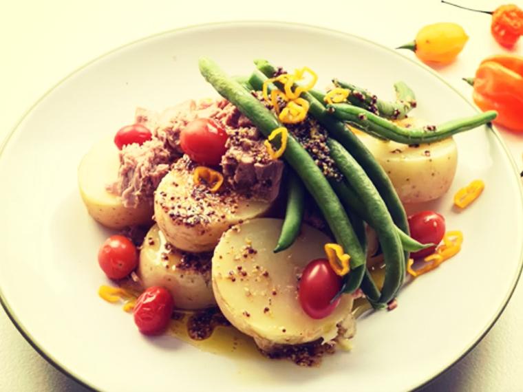 Warm Potato Blanched Bean & Tuna Salad