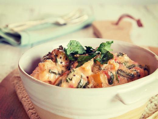 Warm Potato and Spinach Salad