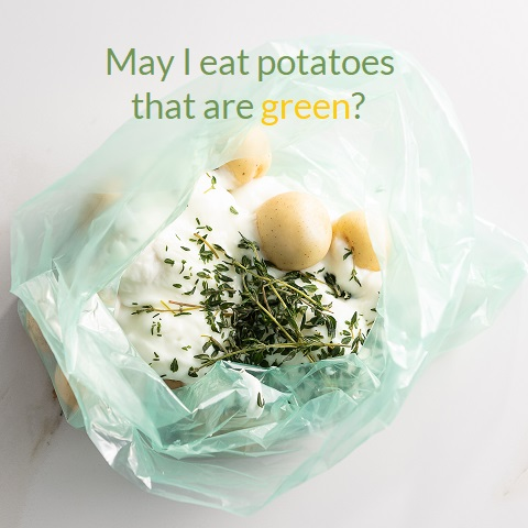 Should I eat potatoes that are green image